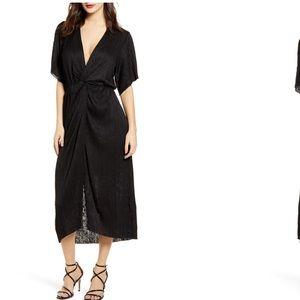 Top Shop Black Midi Dress